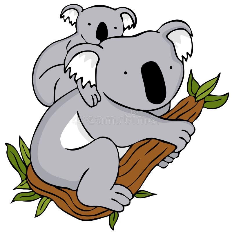 koali niedźwiadkowa mama ilustracja wektor