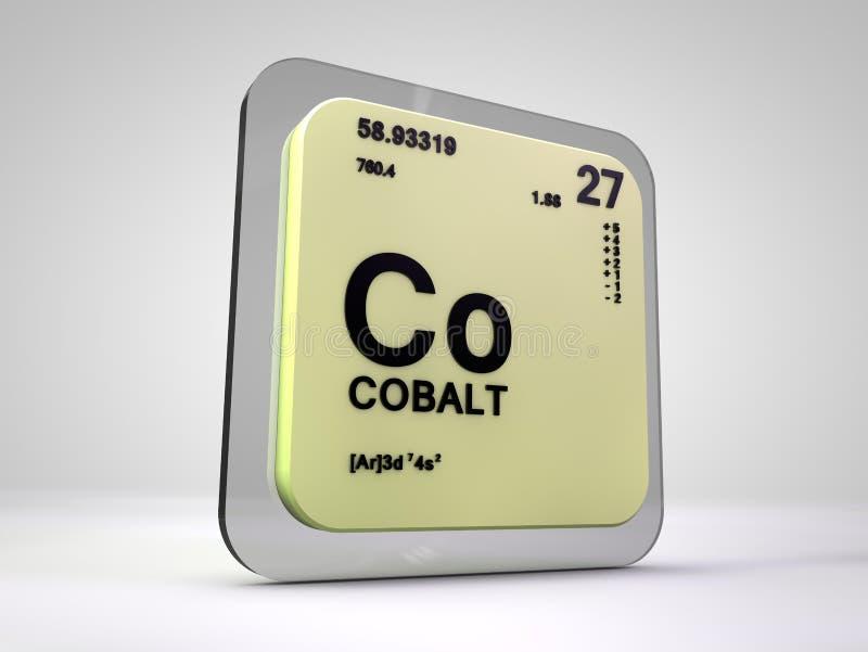 Kobalt - Co - chemicznego elementu okresowy stół royalty ilustracja