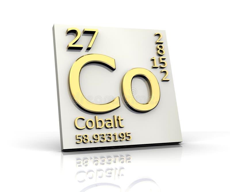 kobalt elementy tworzą okresowego stół ilustracji