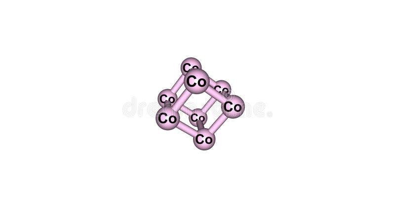 Kobalt krystaliczna struktura odizolowywająca na bielu ilustracji