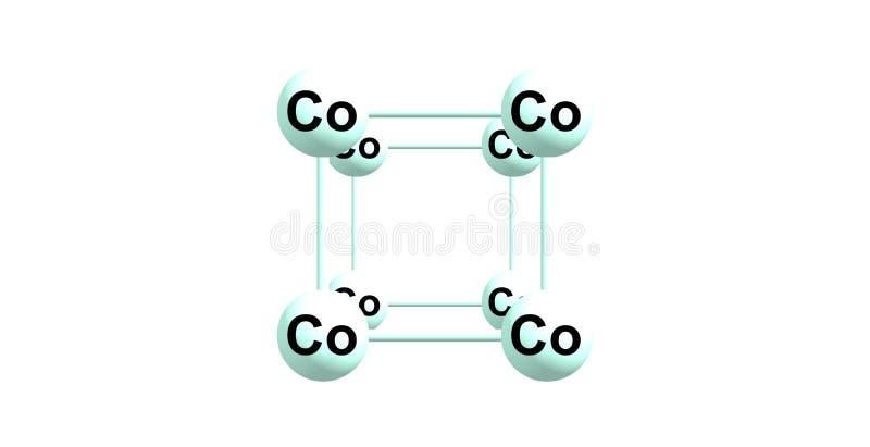 Kobalt krystaliczna struktura odizolowywająca na bielu ilustracja wektor