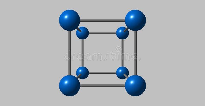 Kobalt krystaliczna struktura odizolowywająca na popielatym ilustracja wektor