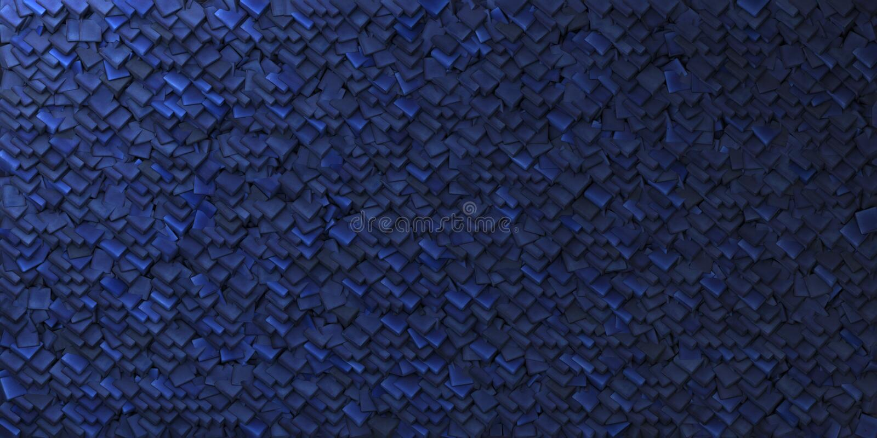 Kobaltblau-Zusammenfassungshintergrund mit geometrischer Form lizenzfreie abbildung