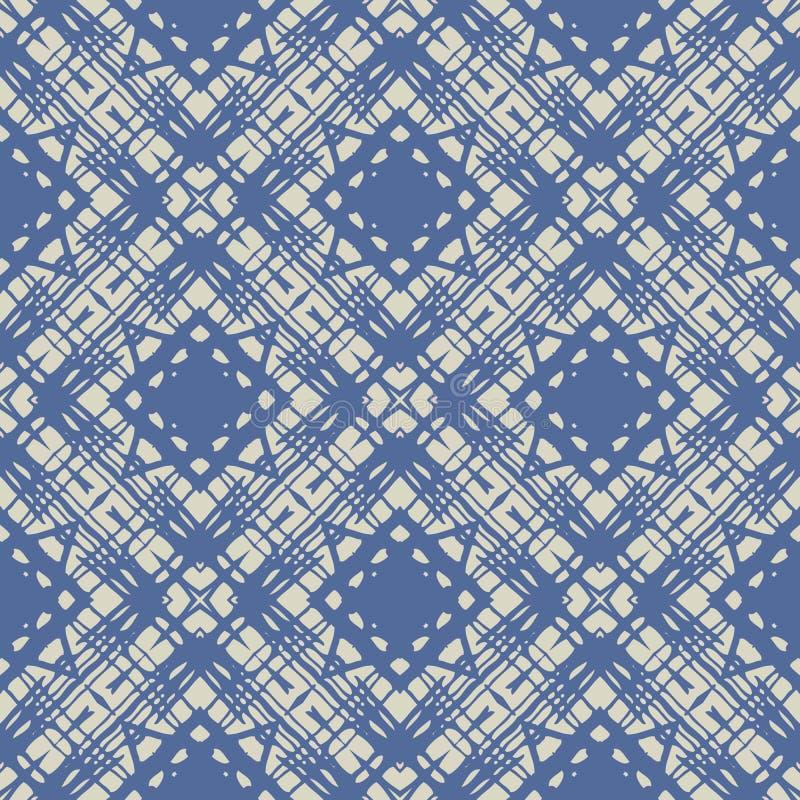 Kobaltu błękita prosty liniowy geometryczny wzór ilustracja wektor