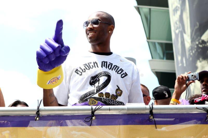 Kobe au défilé de Laker photos libres de droits