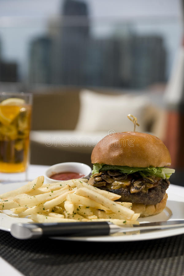 Free Kobe Beef Burger Stock Photography - 10285322