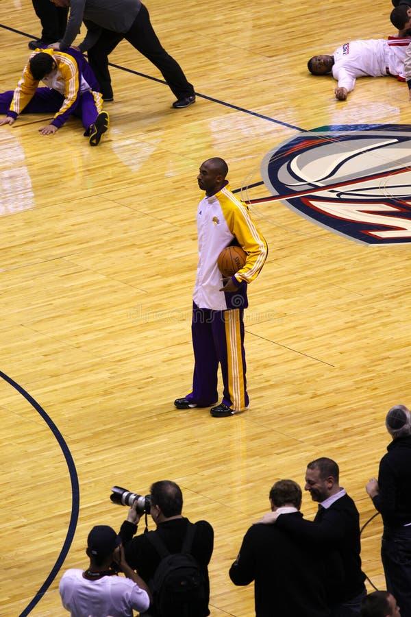 Kobe Bryant dans le jeu contre des filets de New Jersey photos stock