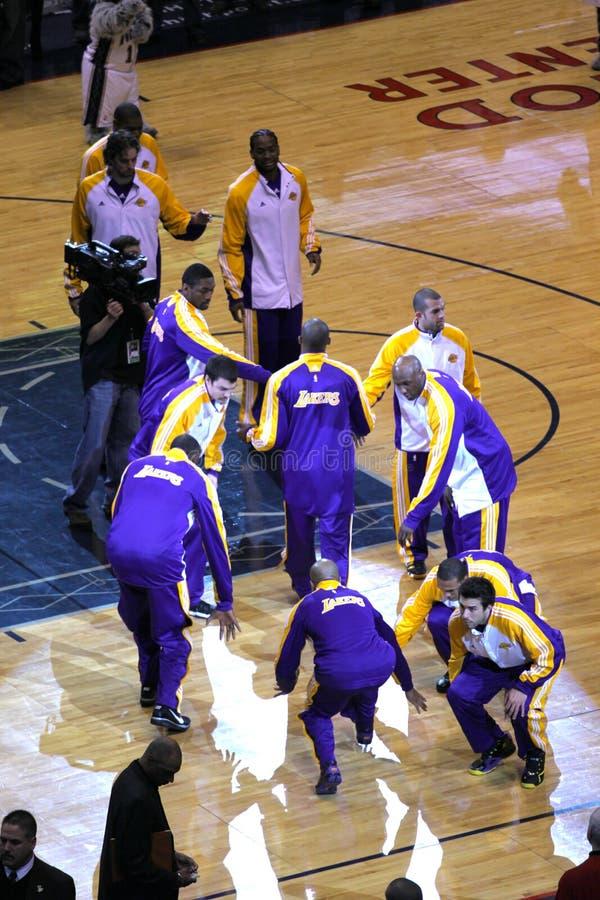 Kobe Bryant dans le jeu contre des filets de New Jersey images stock