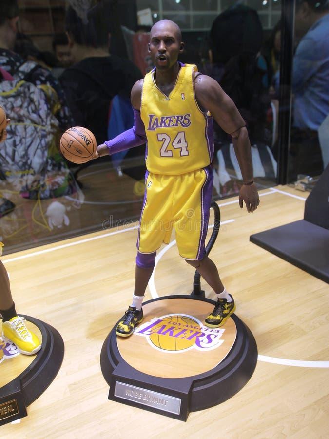 Kobe Bryant för basketstjärna diagram arkivfoto