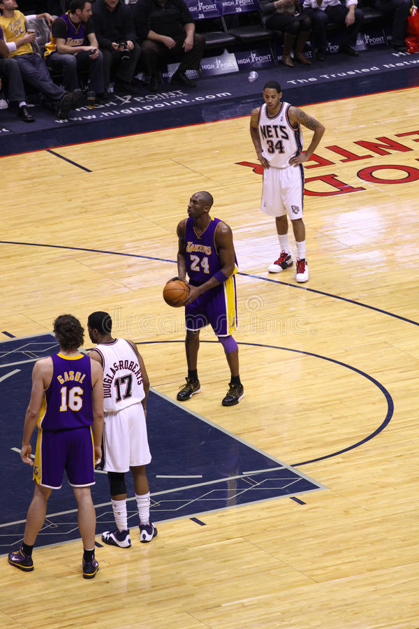 new concept 4eef8 e028e Kobe Bryant In The Game Against New Jersey Nets Editorial ...