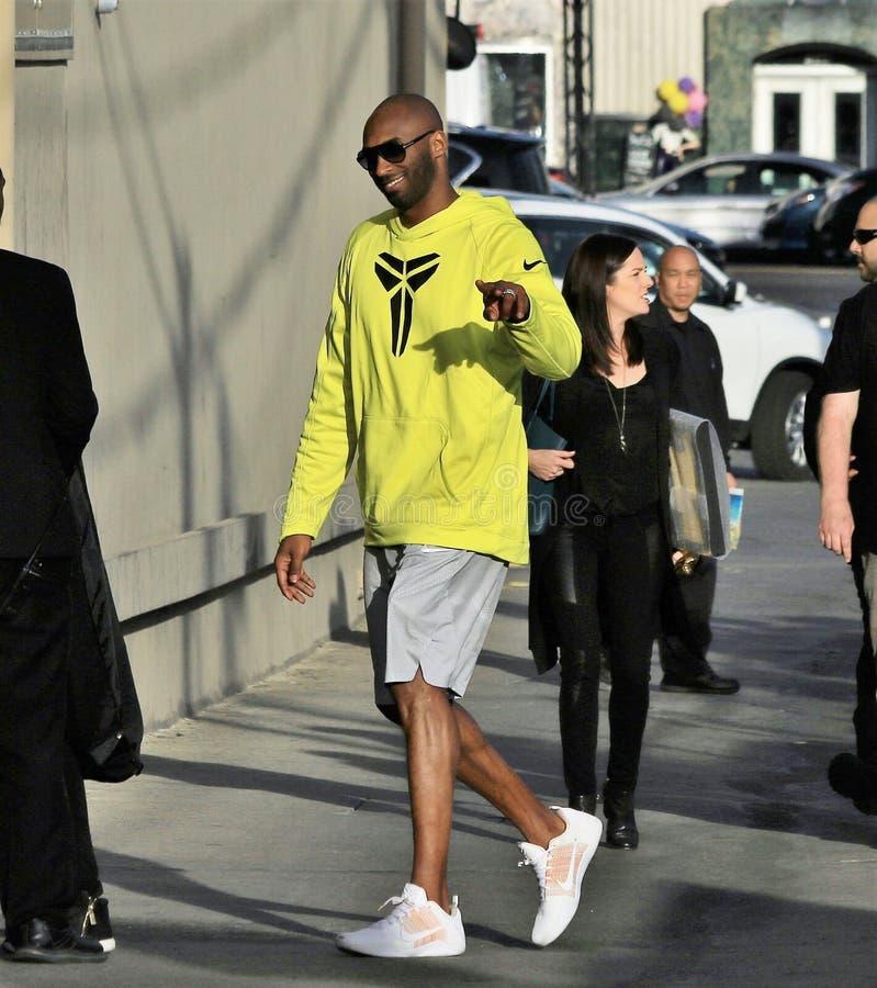 Kobe Bryant. Comes to the Jimmy Kimmel studio royalty free stock image
