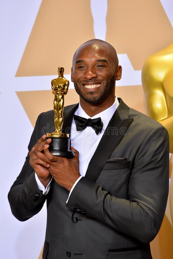 Kobe Bryant. LOS ANGELES, CA - March 4, 2018: Kobe Bryant at the 90th Academy Awards Awards at the Dolby Theartre, Hollywood royalty free stock image
