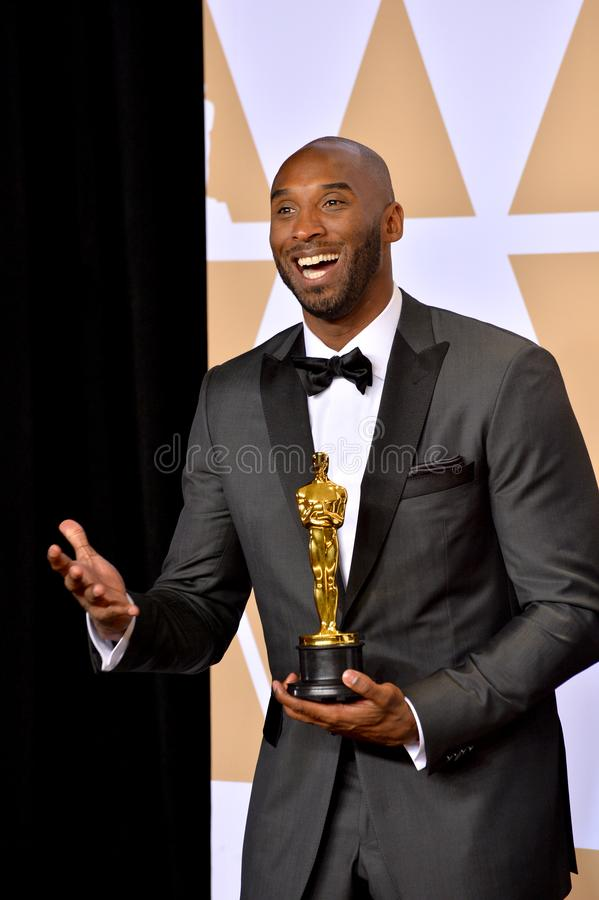 Kobe Bryant. LOS ANGELES, CA - March 4, 2018: Kobe Bryant at the 90th Academy Awards Awards at the Dolby Theartre, Hollywood stock photo