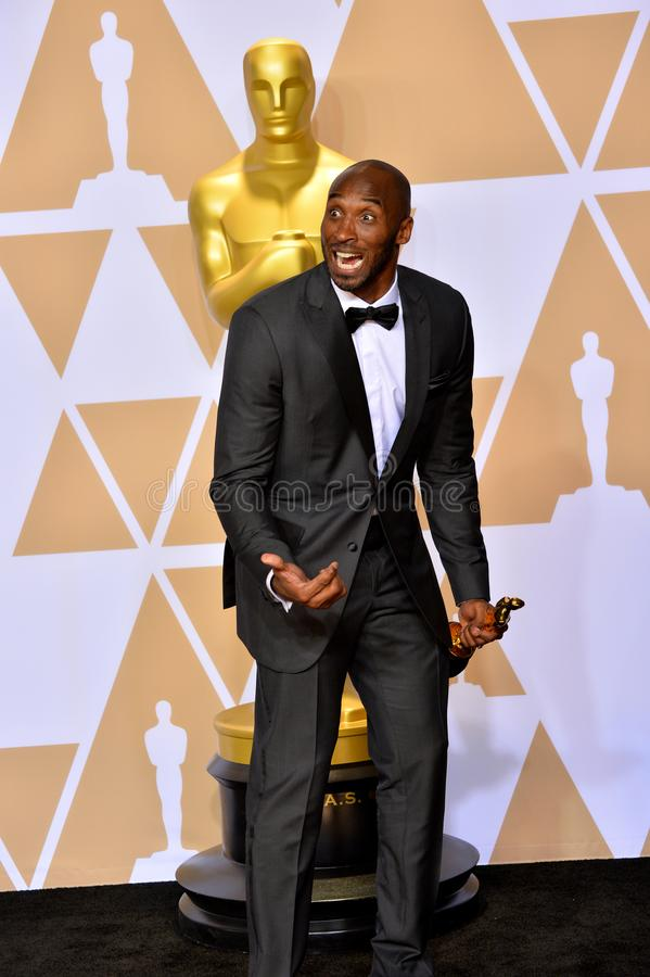 Kobe Bryant. LOS ANGELES, CA - March 4, 2018: Kobe Bryant at the 90th Academy Awards Awards at the Dolby Theartre, Hollywood royalty free stock photography