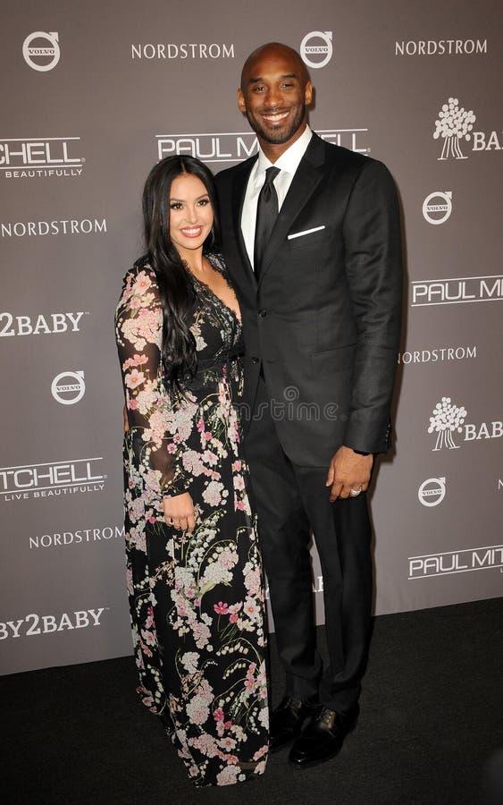 Kobe Bryant och Vanessa Laine Bryant royaltyfria foton
