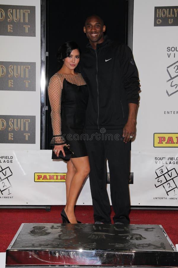 Kobe Bryant, Vanessa Bryant photos libres de droits