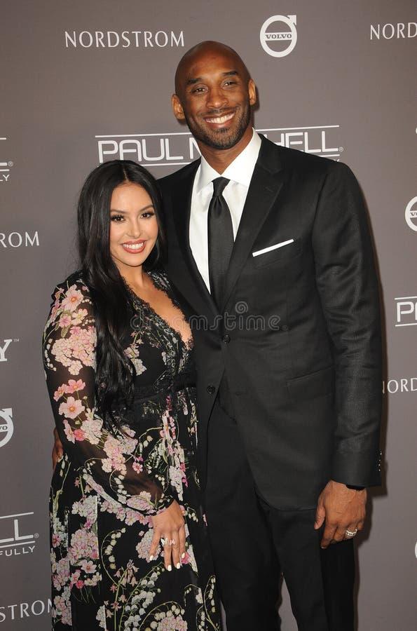 Kobe Bryant y Vanessa Bryant foto de archivo