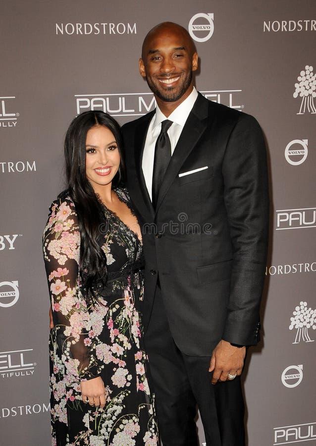 Kobe Bryant y Vanessa Laine Bryant imágenes de archivo libres de regalías
