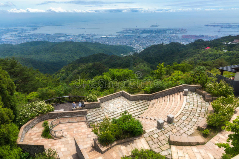 Kobe City in Mount Rokko stock photo Image of landscape 73356840