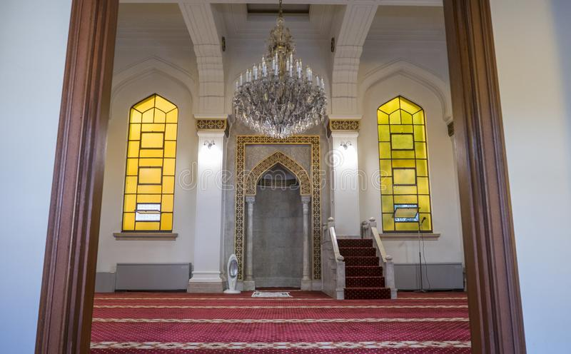 KOBE, GIAPPONE 10 NOVEMBRE 2018: Interno di Kobe Mosque a Kobe fotografia stock