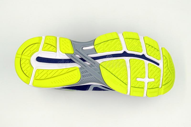 Sole Of A Asics GT 2000 6 Running Shoe. Editorial Photo - Image of ...