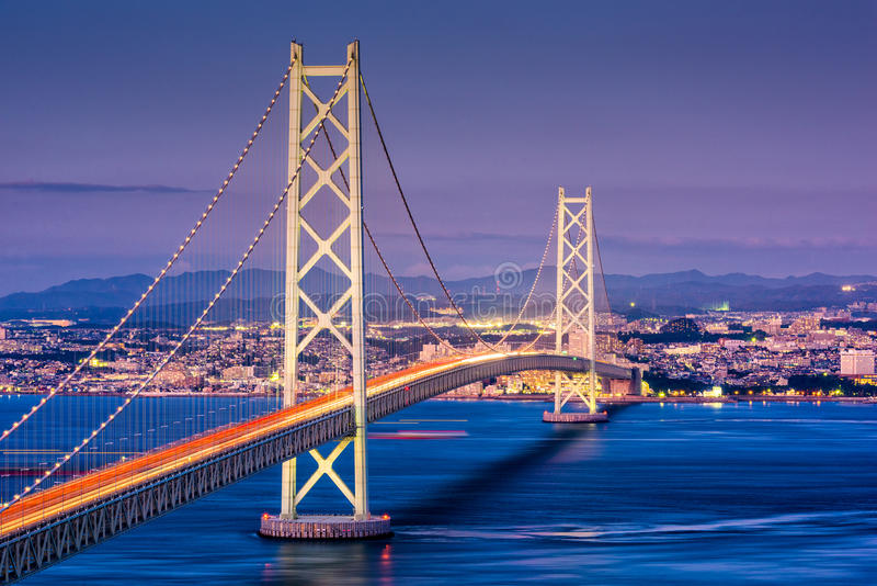 Kobe, Japonia most obrazy royalty free