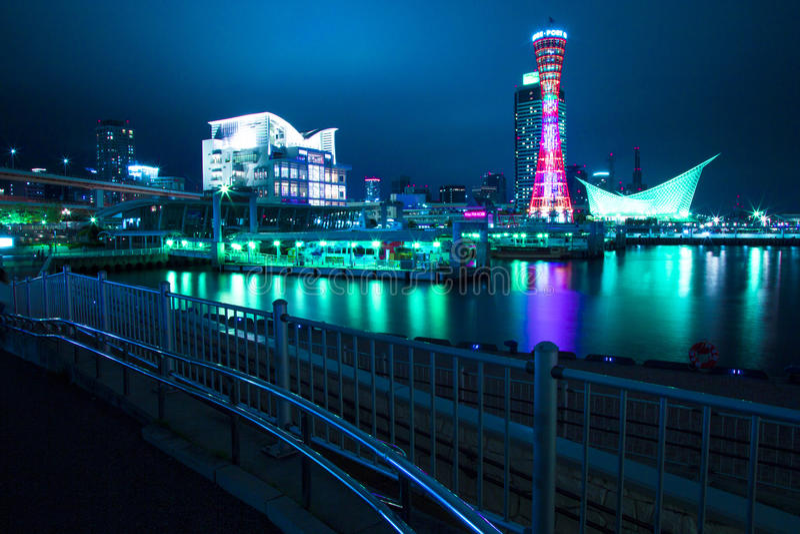 Kobe port royaltyfria bilder