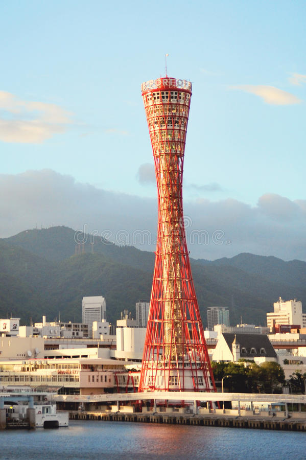 Kobe Port Tower. In Japan royalty free stock images