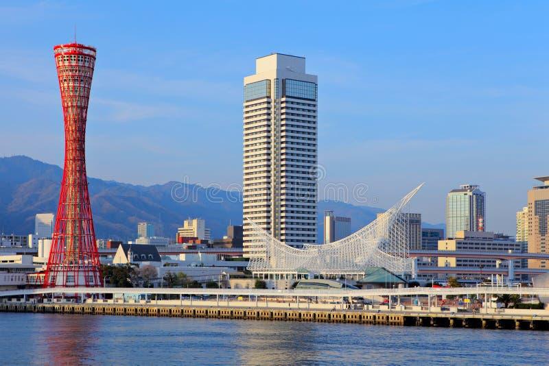 Kobe stad i Japan arkivfoton