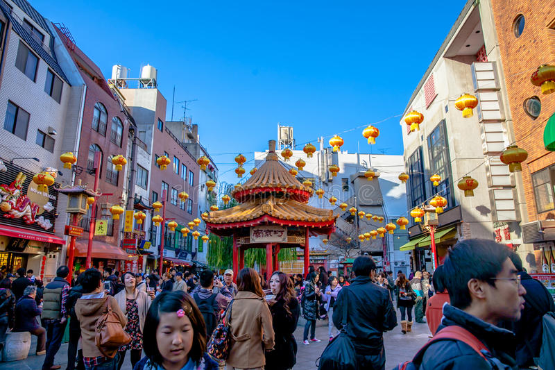 Kobes port öppnades till utlänningar inklusive kinesisk invandrare royaltyfria foton