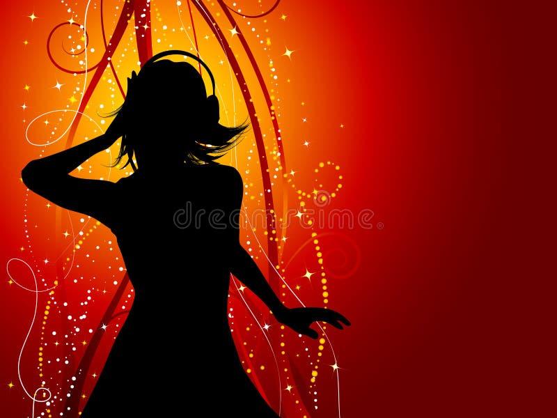 kobieca muzyki ilustracja wektor