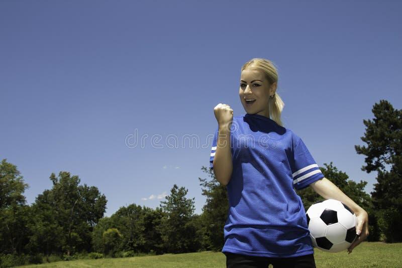 kobieca piłka nożna gracza obrazy royalty free