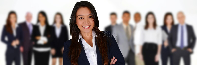 kobieciarz kawowa biznesowej megafonu zespołu zdjęcia royalty free