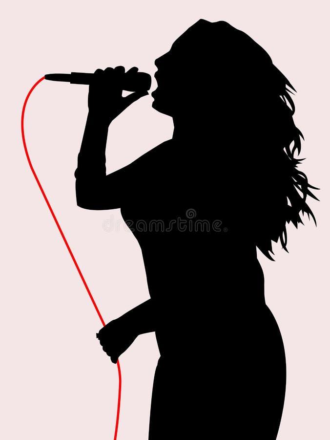 kobiecy śpiew ilustracji
