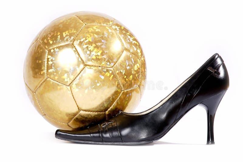 kobiecy futbol obuwia tła white obraz royalty free