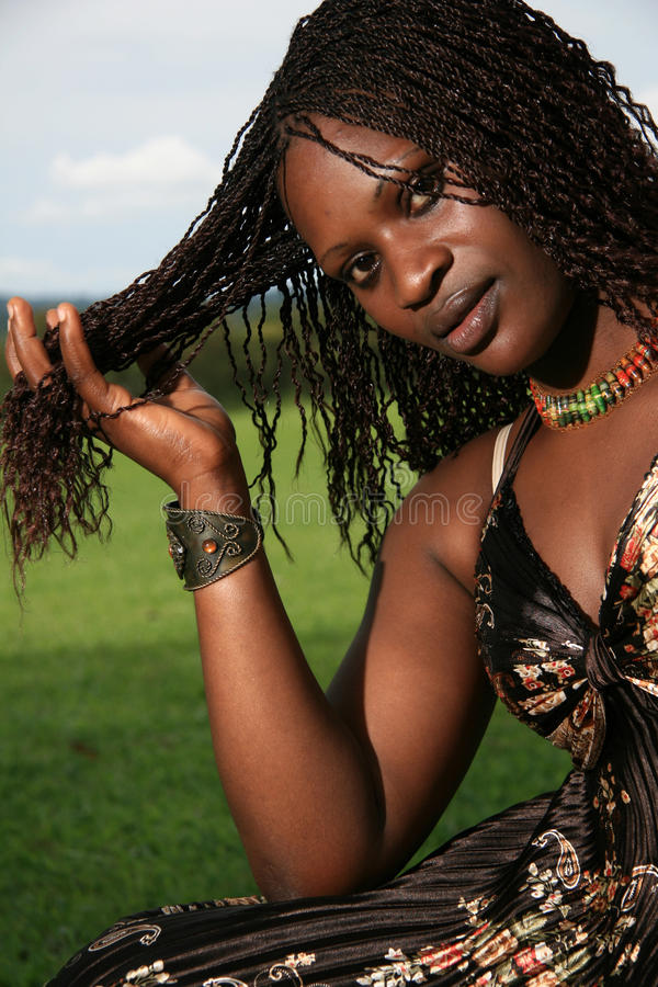 kobiet afrykańscy piękni potomstwa obrazy royalty free