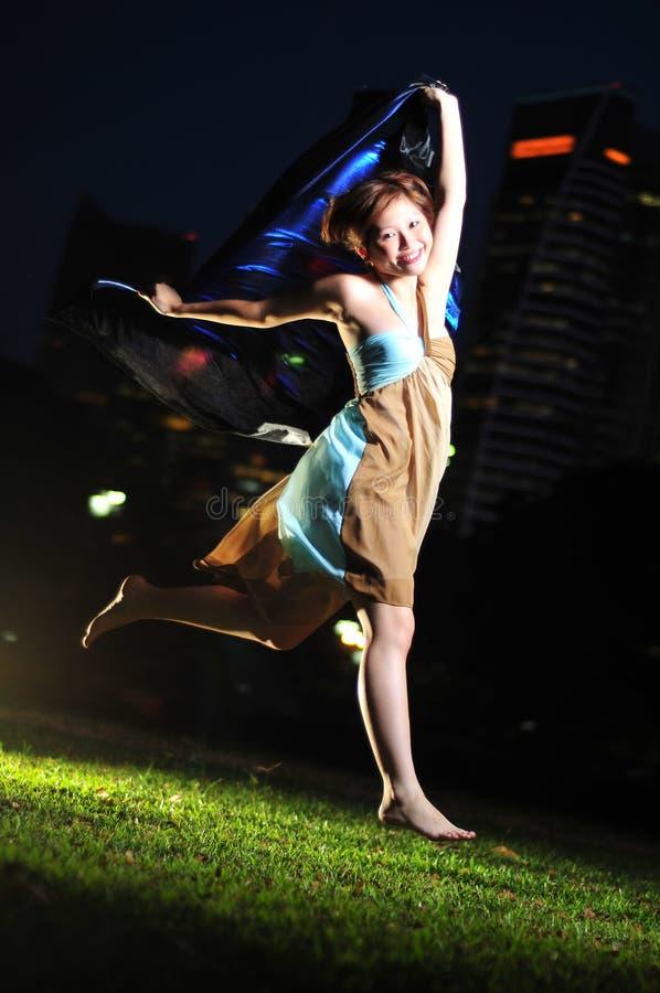 kobiet azjatykci szczęśliwi potomstwa zdjęcia royalty free
