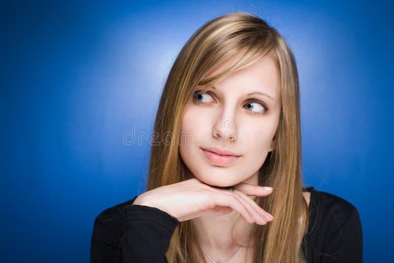 kobiet blond śliczni pełen wdzięku potomstwa zdjęcie stock