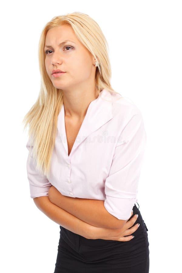 kobiet brzuszni bólowi potomstwa zdjęcia stock