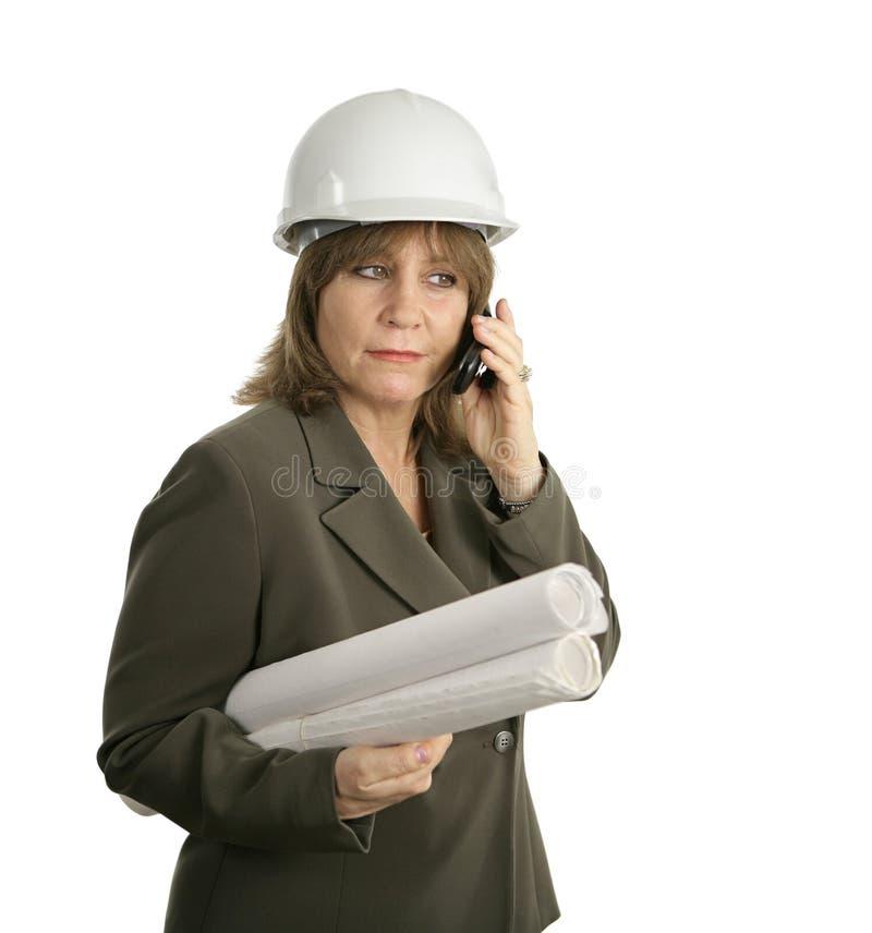 kobiet inżynierów się plany zdjęcie royalty free