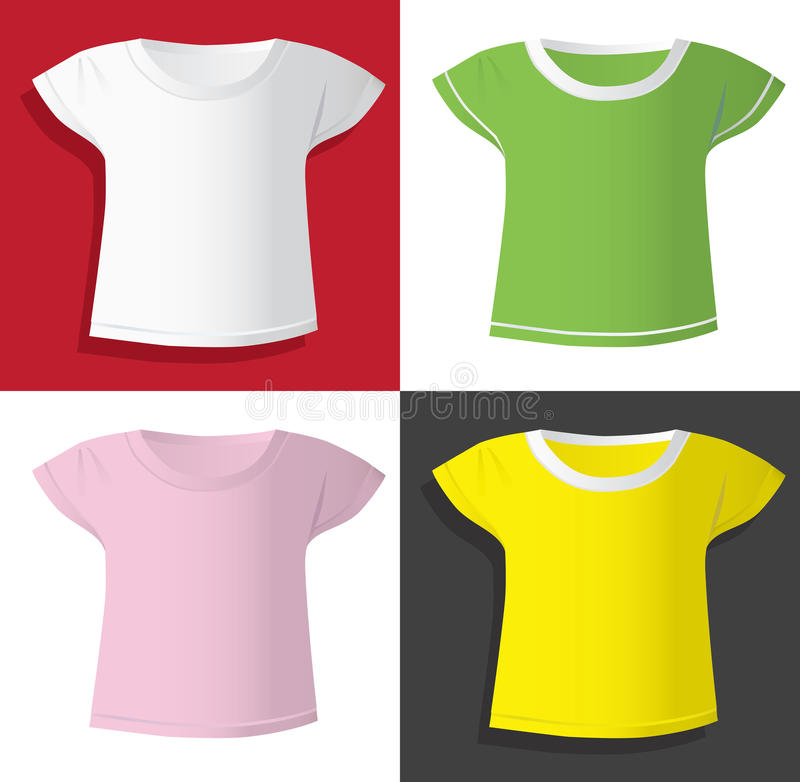 Kobiet koszulek szablony royalty ilustracja