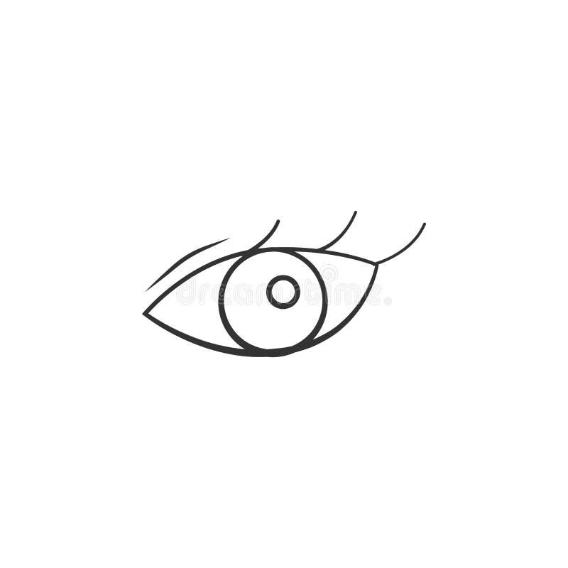 Kobiet oczu ikona Element kobiety makeup ikona dla mobilnych pojęcia i sieci apps Szczegółowa kobiet oczu ikona może używać dla s royalty ilustracja