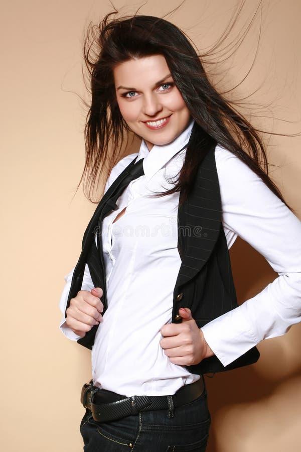 kobiet piękni target1777_0_ pracowniani potomstwa obraz stock