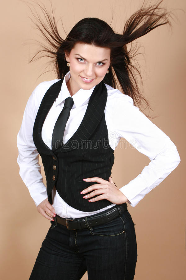 kobiet piękni target1833_0_ pracowniani potomstwa fotografia royalty free