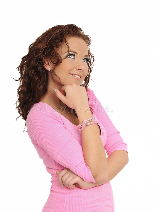 kobiet piękni target2311_0_ potomstwa obrazy royalty free