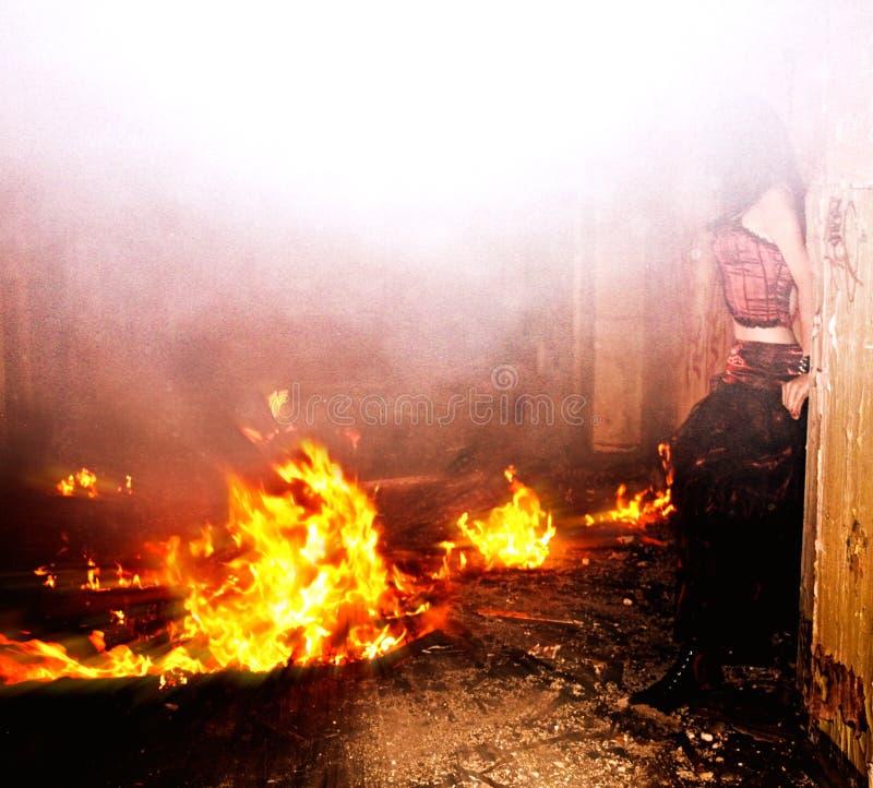 kobiet pożarniczy potomstwa fotografia stock
