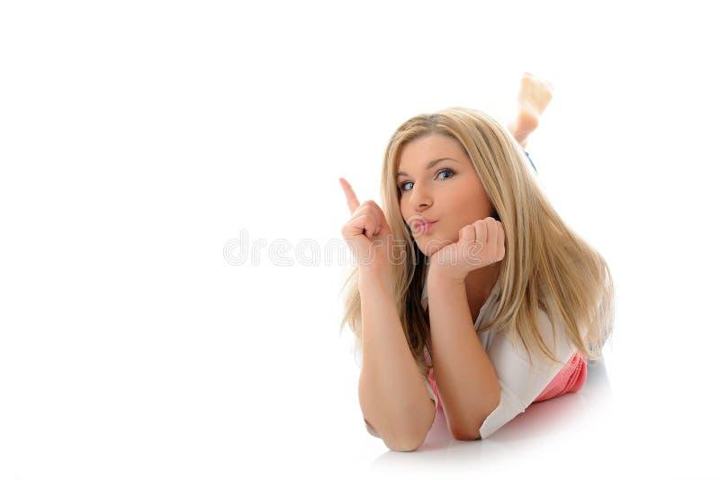 kobiet przypadkowi target1238_0_ uśmiechnięci potomstwa obrazy royalty free