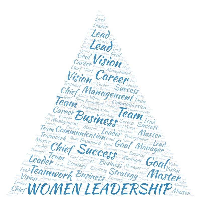 Kobiet przywódctwo słowa chmura royalty ilustracja
