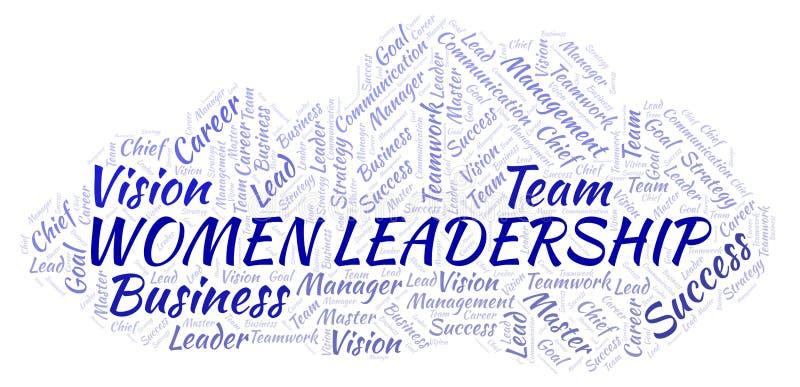 Kobiet przywódctwo słowa chmura ilustracji