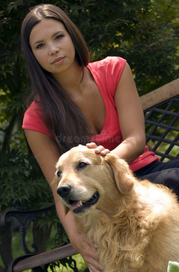 kobiet psi potomstwa obrazy stock
